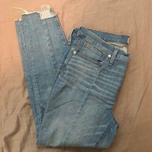 "Madewell 9"" High-Rise Skinny Jeans w/Step-Hem, 32"